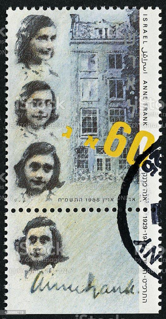 Anne Frank Stamp stock photo