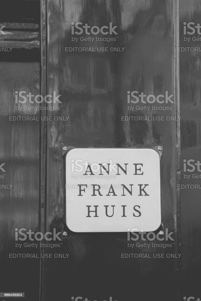 Anne Frank´s door stock photo