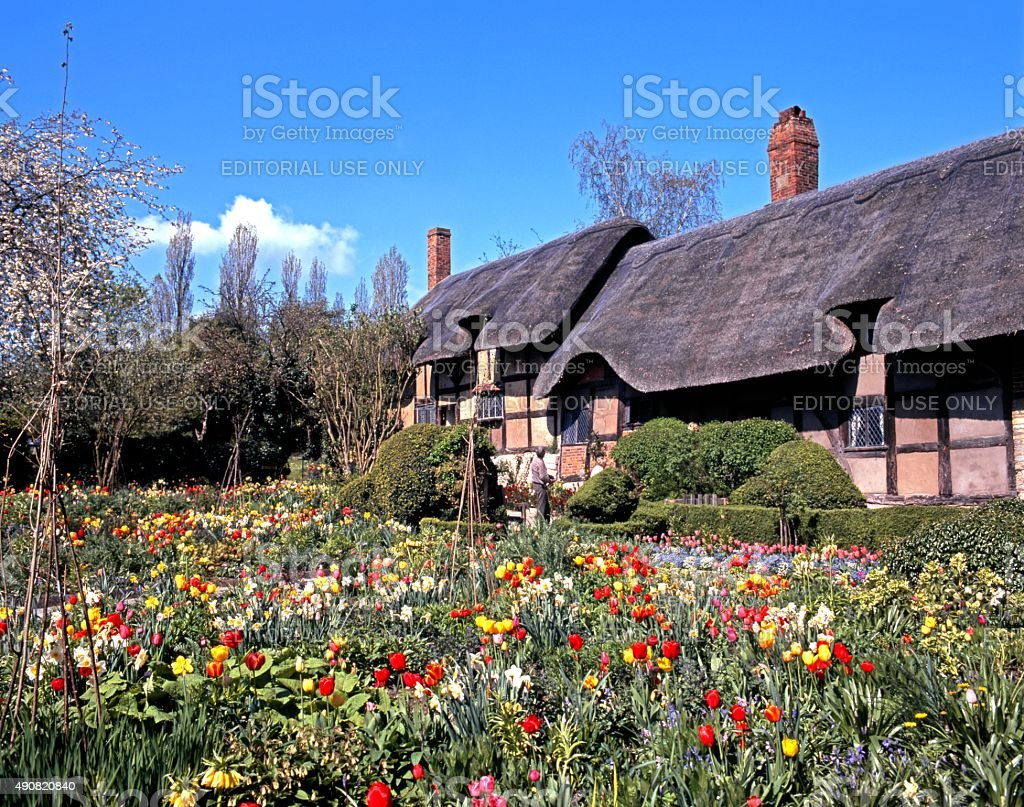Anne Hathaways Cottage, Stratford-upon-Avon. stock photo