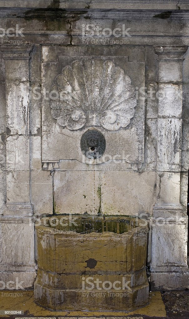 Annecy, France: a fountain royalty-free stock photo