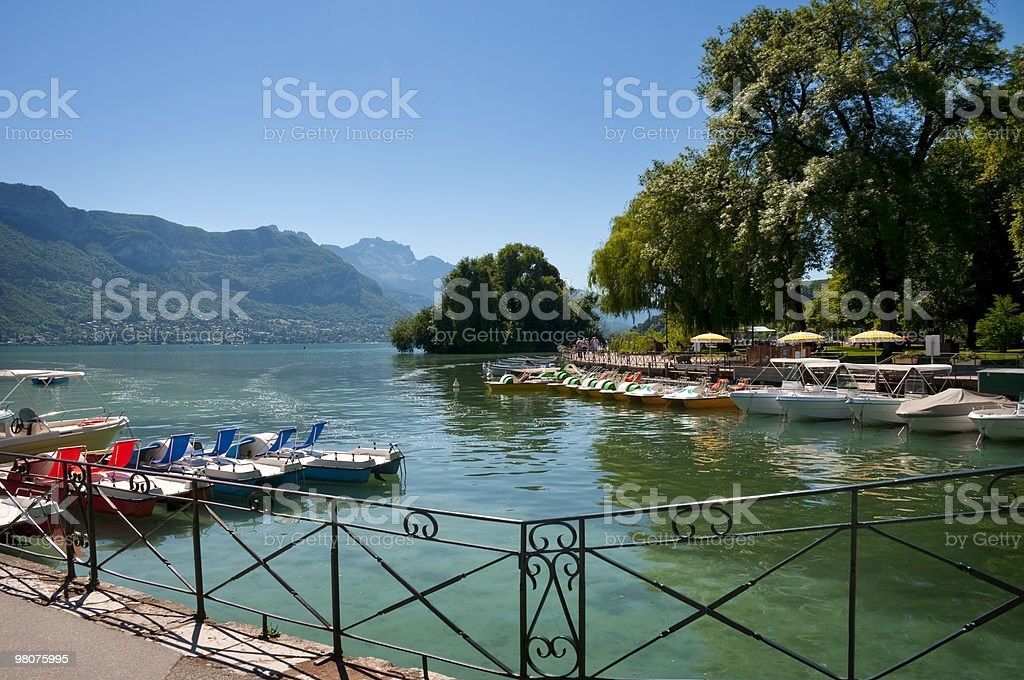 Lago di Annecy foto stock royalty-free