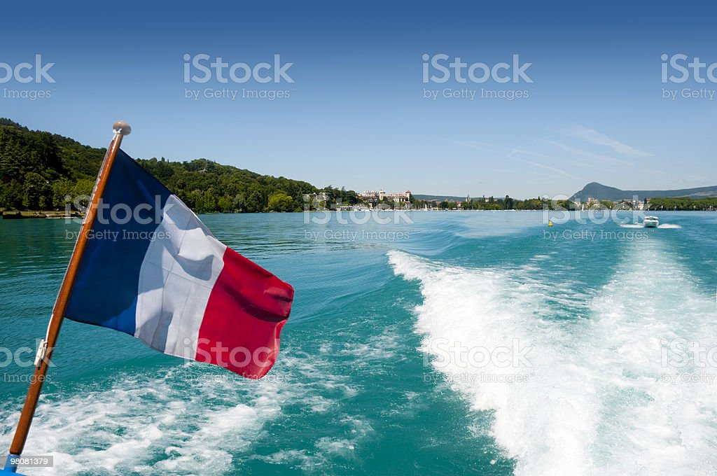 Lago di Annecy foto stock royalty-free