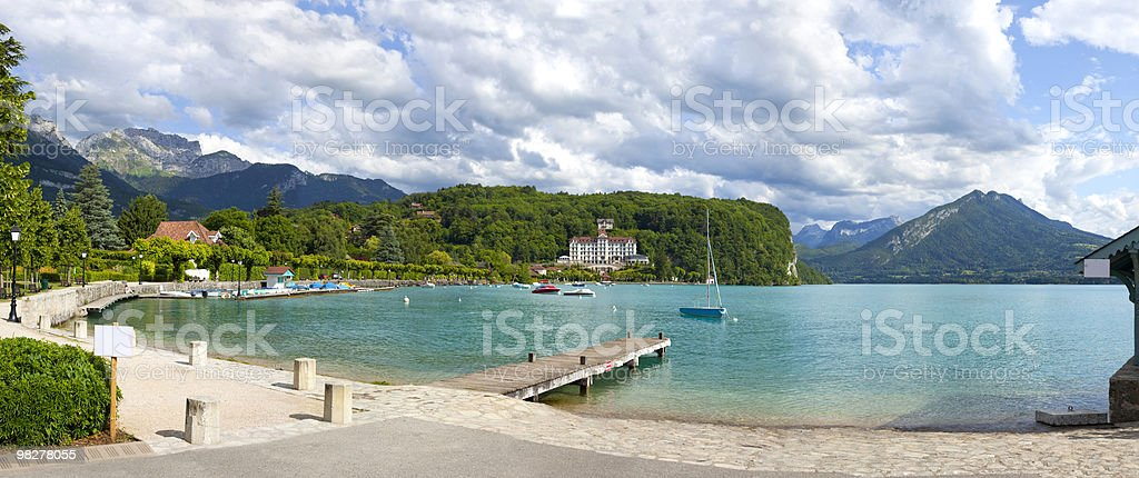 Annecy lake royalty-free stock photo