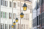 Architectural detail of the streets in Annecy