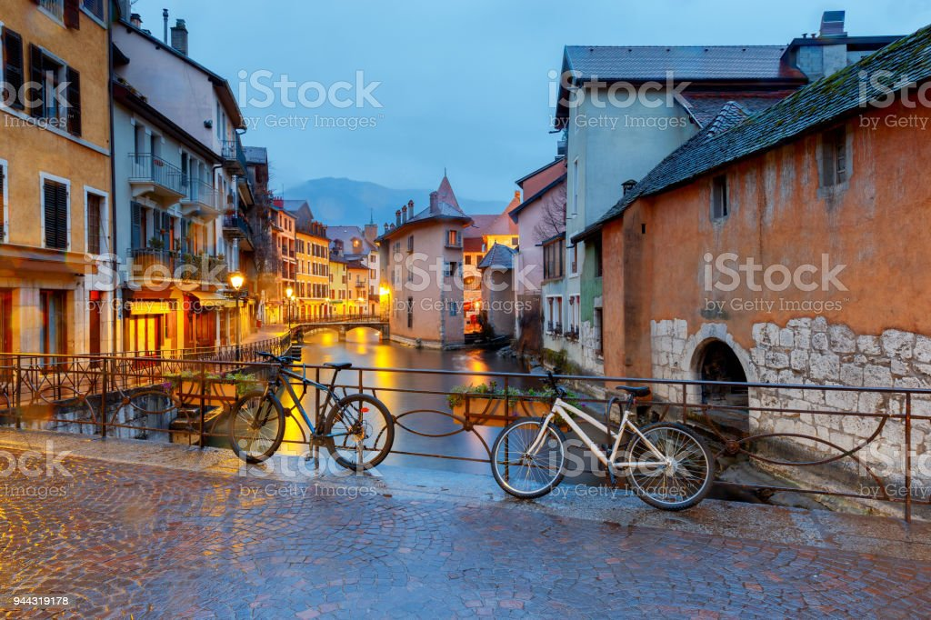 Annecy. Old city. stock photo
