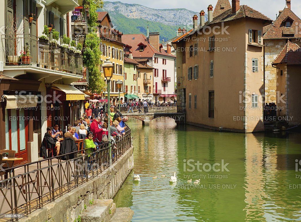 Annecy Old Town royalty-free stock photo