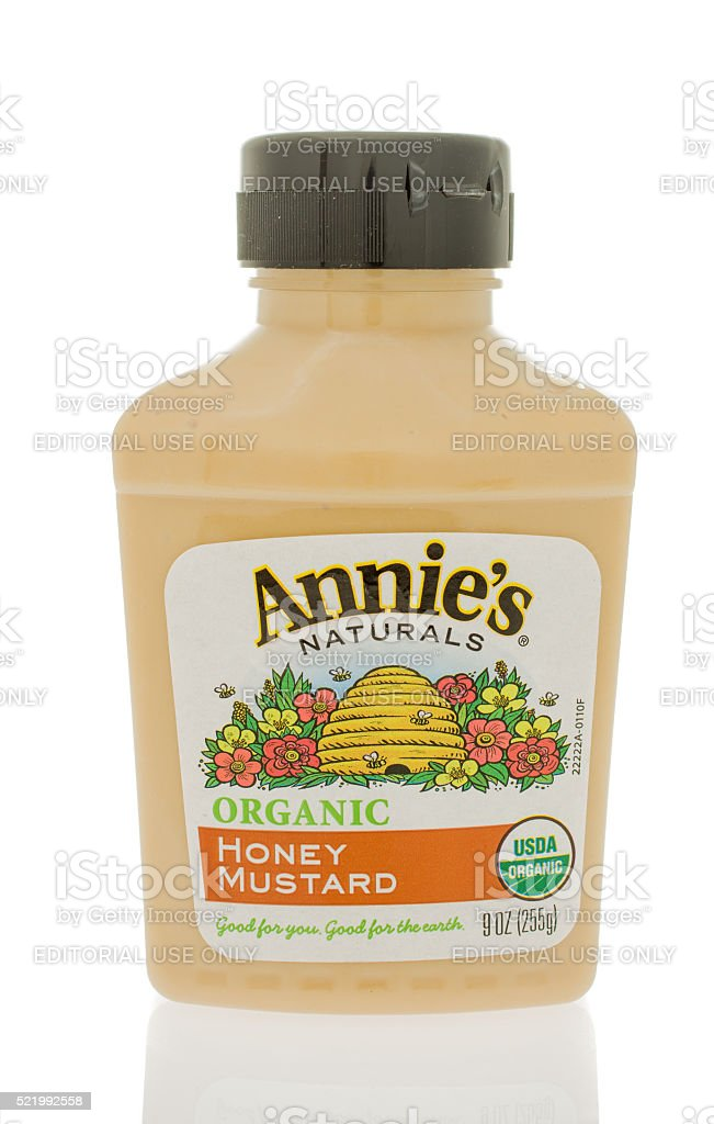 Annie's Organic Mustard stock photo