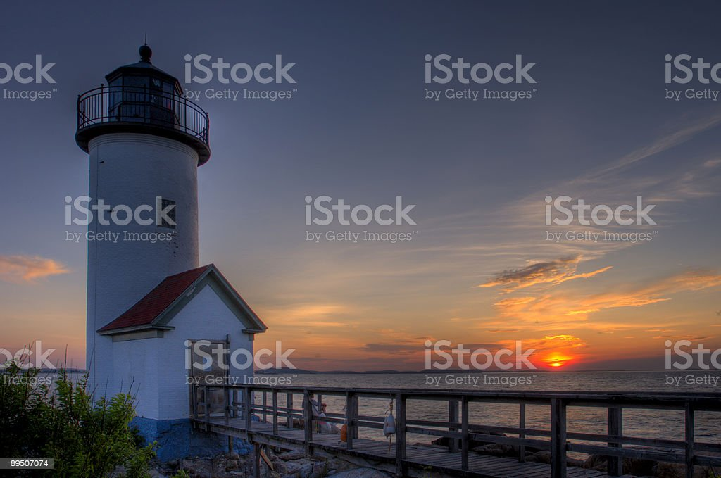 Annisquam Lighthouse HDR stock photo