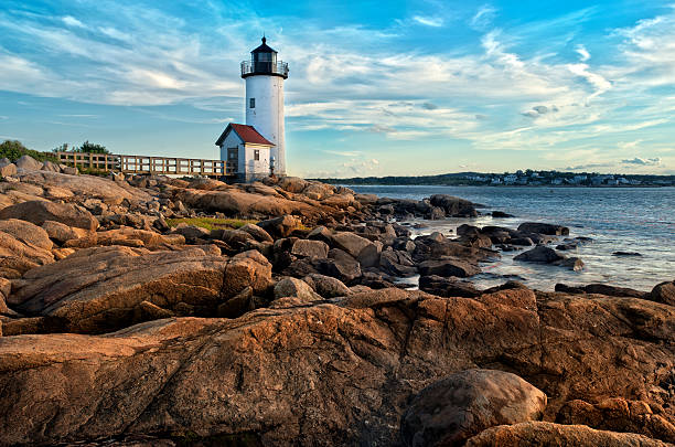 Annisquam lighthouse Annisquam lighthouse located near Gloucester, Massachusetts gloucester massachusetts stock pictures, royalty-free photos & images
