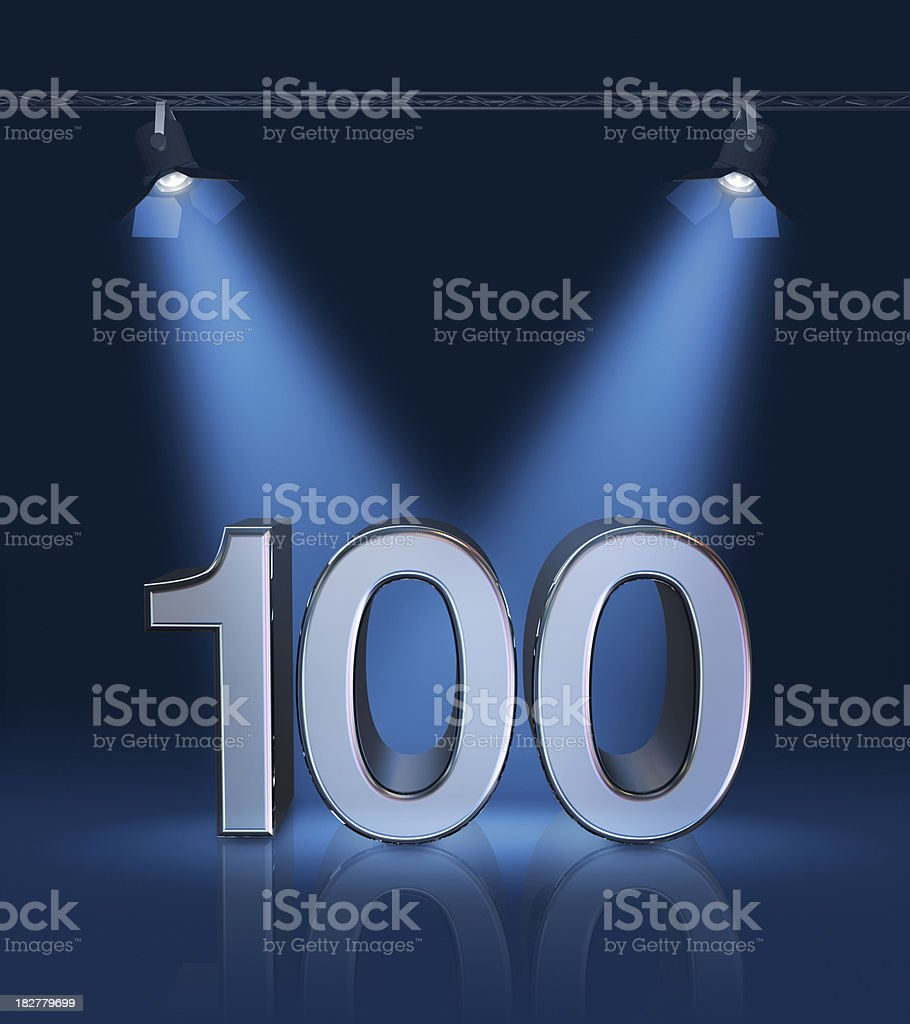 Anniversary 100 stock photo