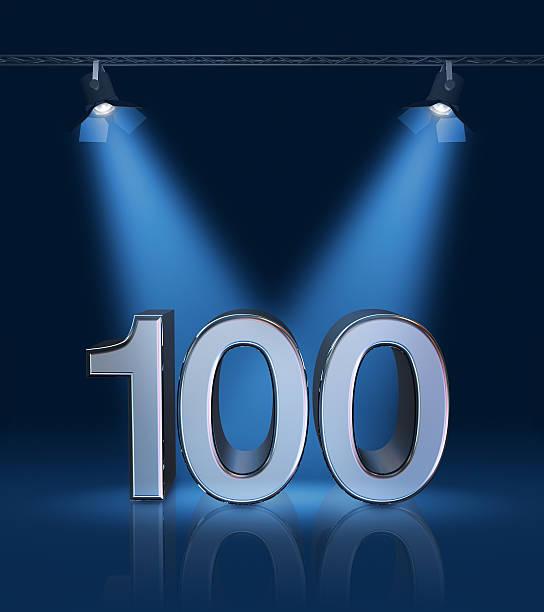 100-jähriges jubiläum - nummer 100 stock-fotos und bilder