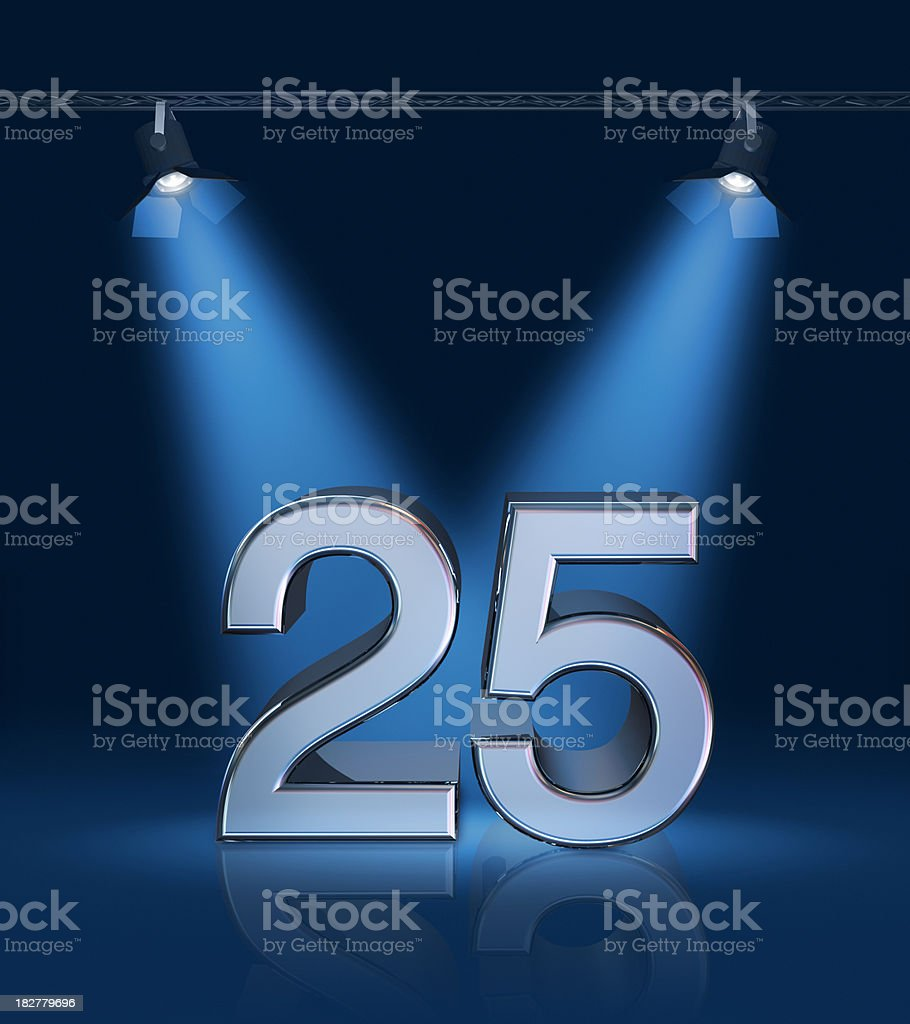 Anniversary 25 stock photo