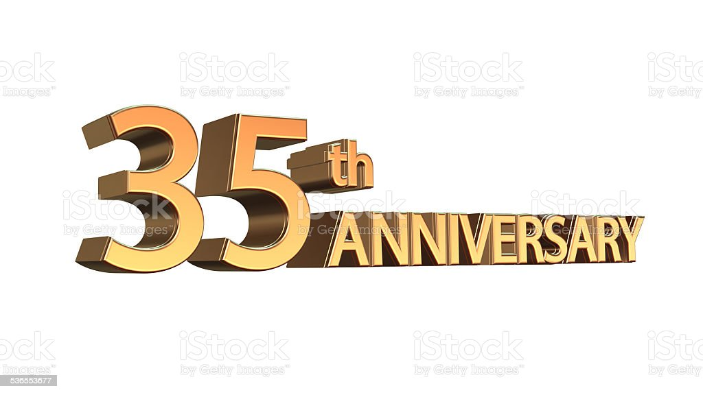 Anniversary 35th, Thirty-fifth Jubilee stock photo