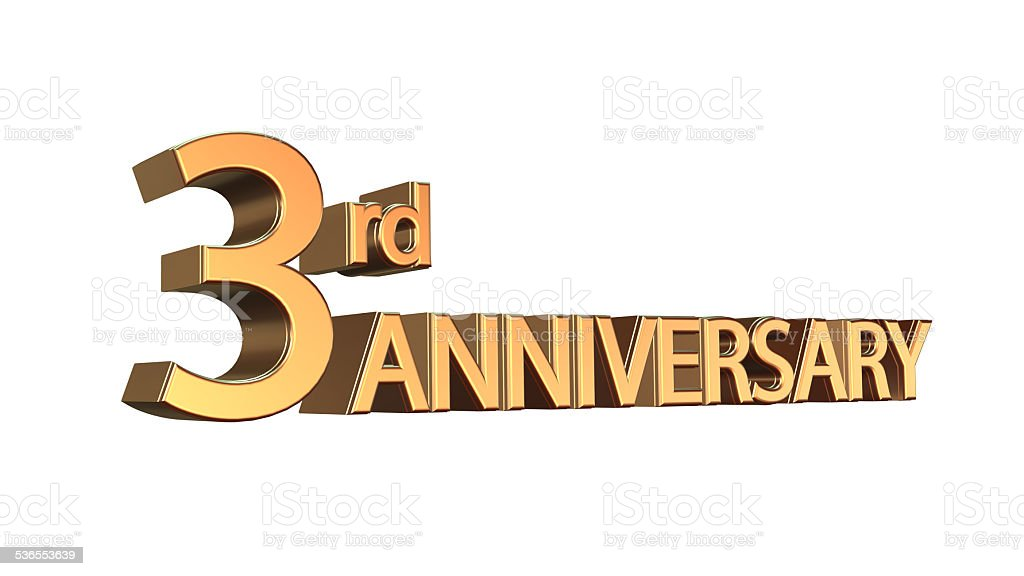 Anniversary 3rd, Third Jubilee stock photo