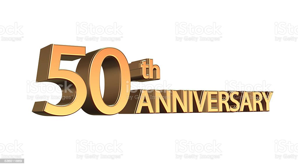 Anniversary 50th, Fiftieth Jubilee stock photo