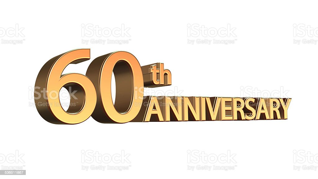 Anniversary 60th, Sixtieth Jubilee stock photo