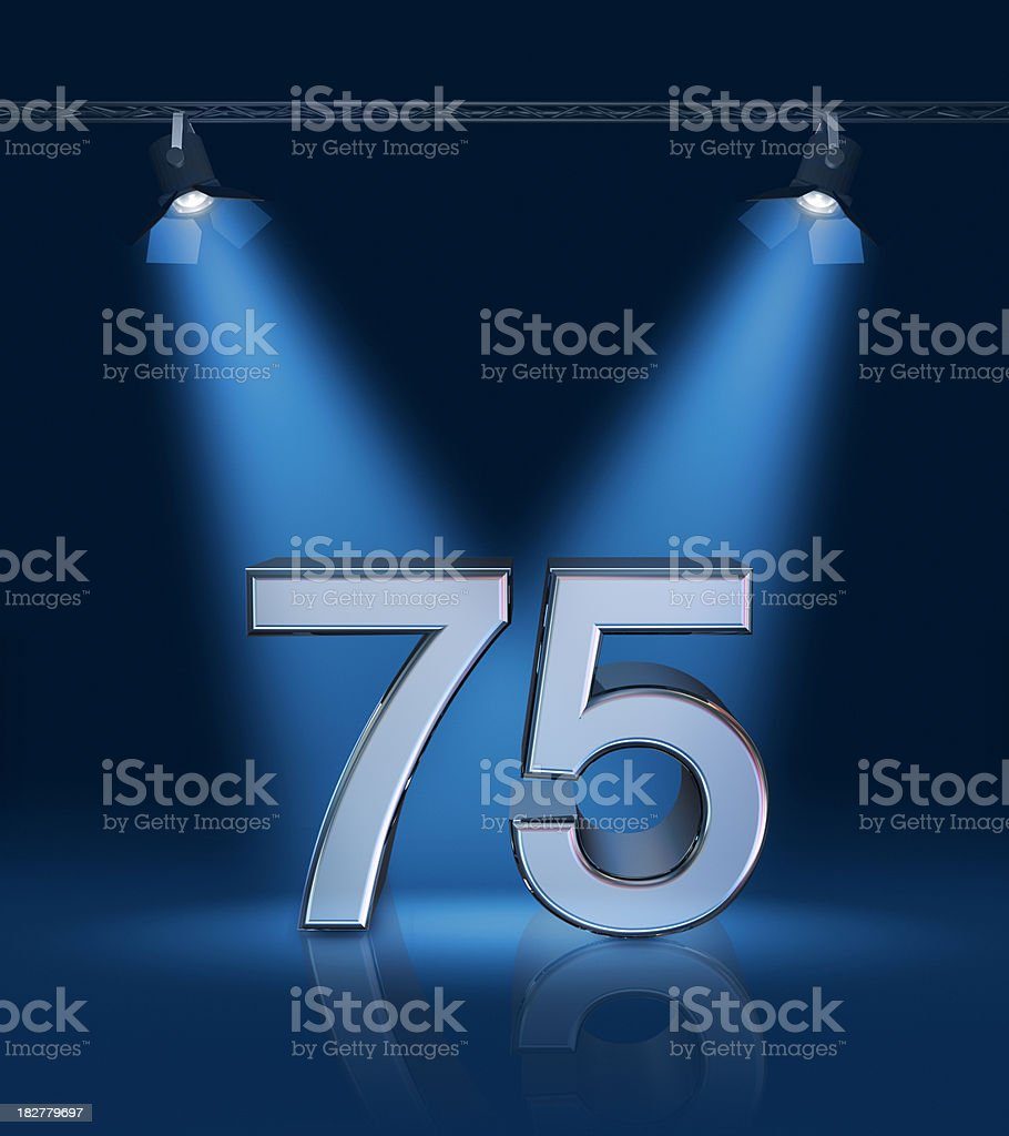 Anniversary 75 stock photo