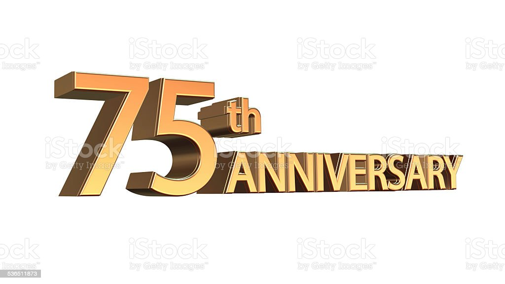 Anniversary 75th, Seventy-fifth Jubilee stock photo