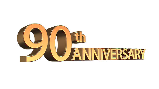 anniversary 90th, ninetieth jubilee - number 90 stock photos and pictures