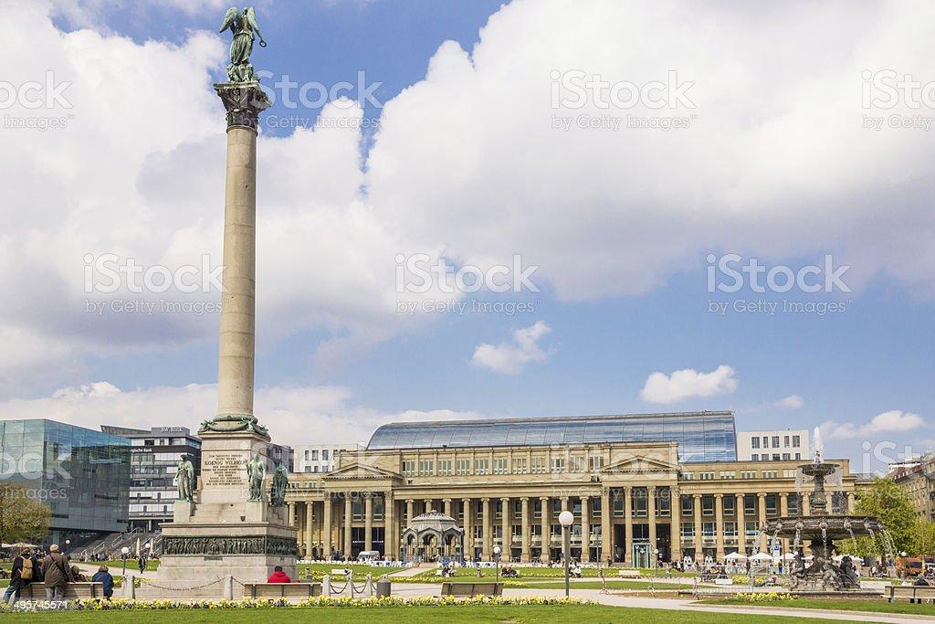 Jubiläumssäule Schlossplatz Stuttgart stock photo