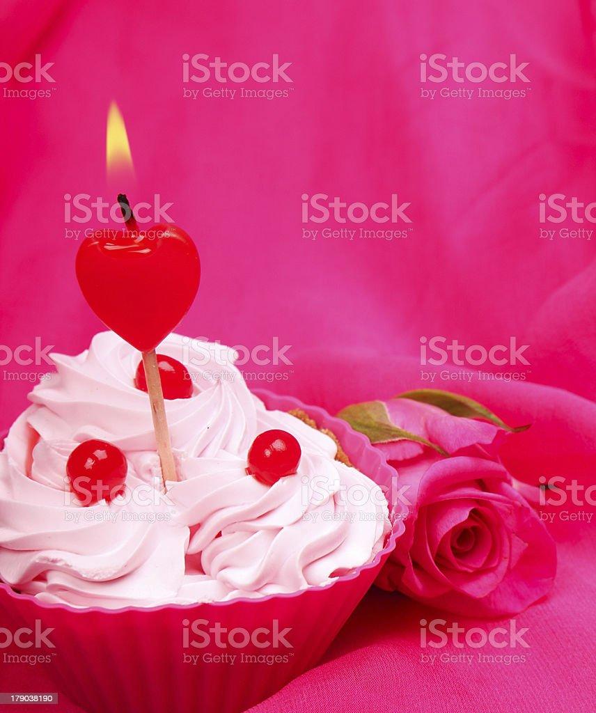Anniversary cupcake royalty-free stock photo