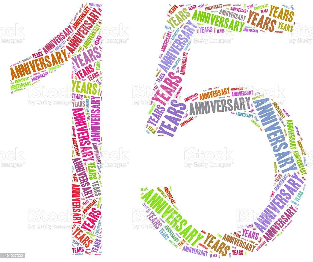Geburtstag oder ein Jubiläum gefeiert. Word cloud Illustrationen – Foto