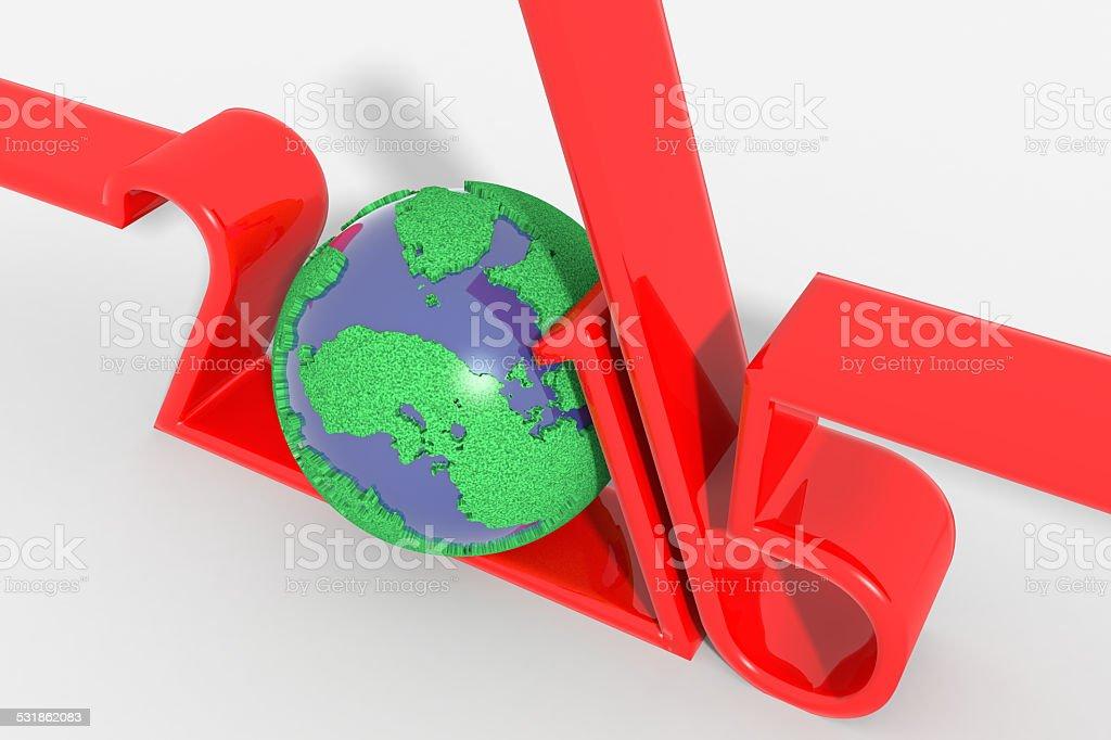 Anno 2015 logo moderno con pianeta stock photo