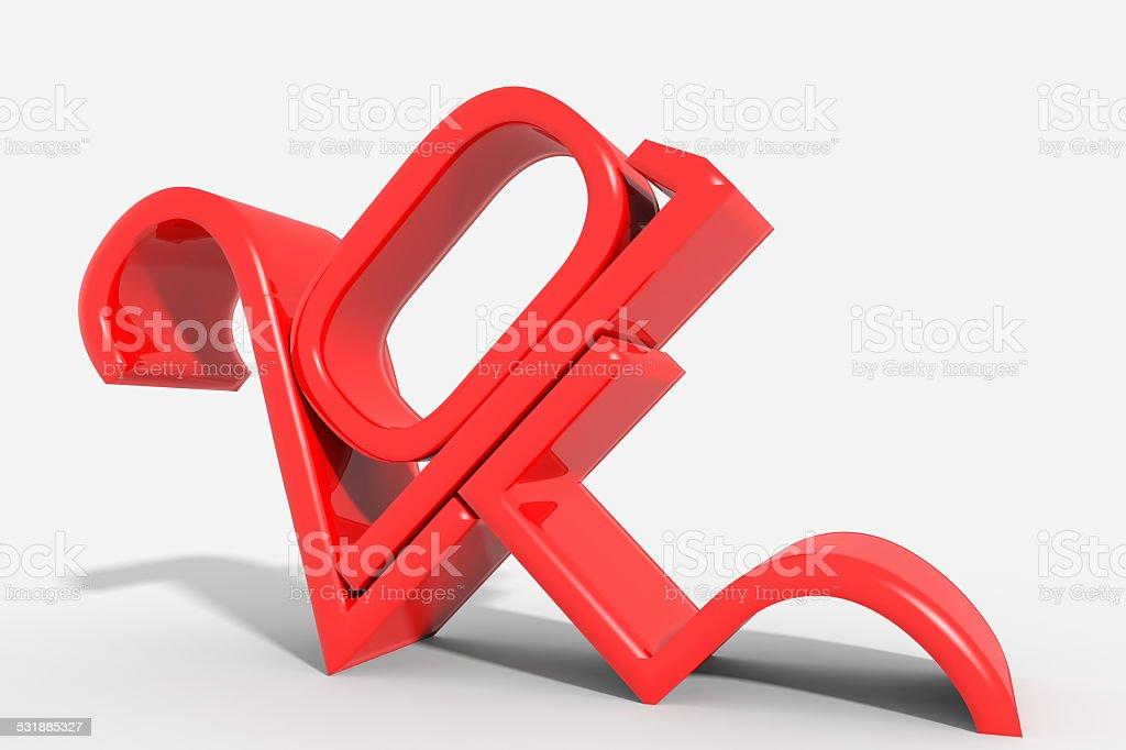 Anno 2015 logo rosso moderno stock photo