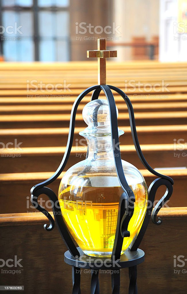 Annointing oil. stock photo