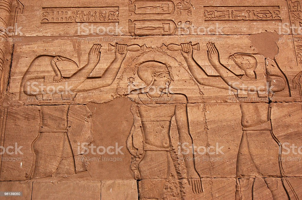 Annointing the Pharoah royalty-free stock photo