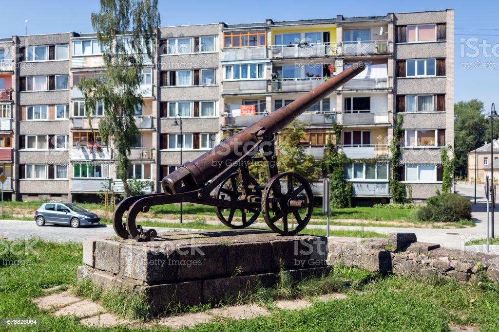 Сannon en forteresse de Daugavpils photo libre de droits
