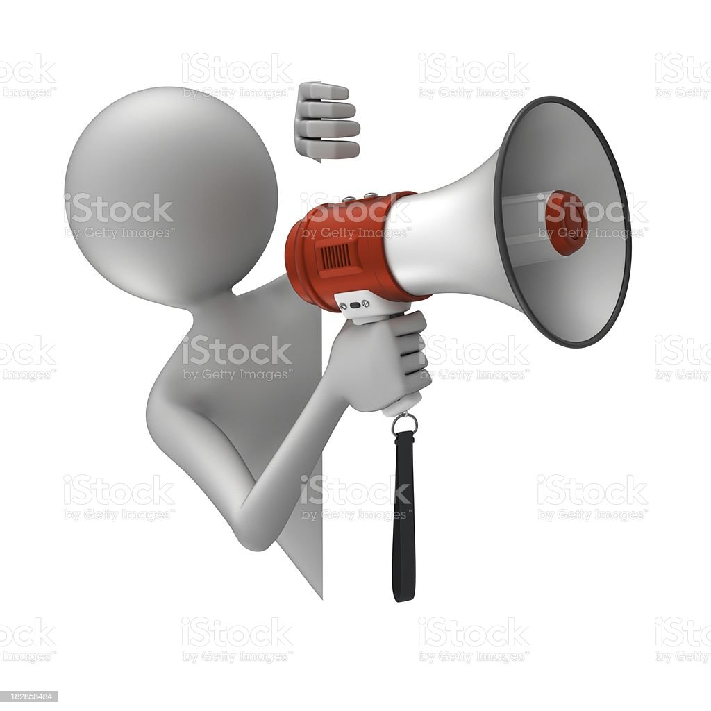 Announcement - Abstract 3d people royalty-free stock photo