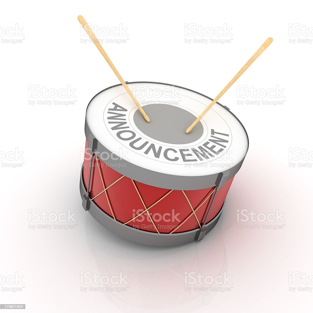 Announcement drums royalty-free stock photo