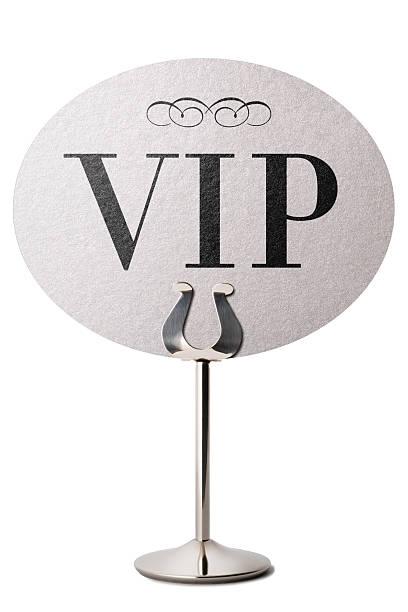 Stehen VIP-Ankündigung Tisch – Foto