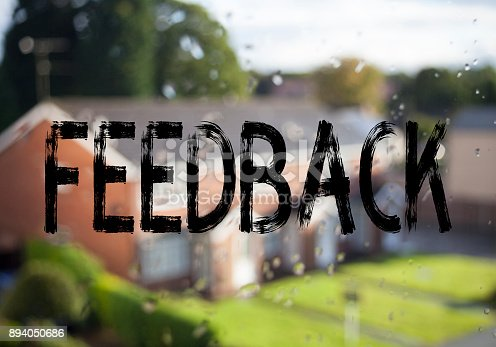 istock Announcement text caption showing Feedback. Business concept for Opinion Information Positive Negative Feedback written on old brick background with copy space 894050686