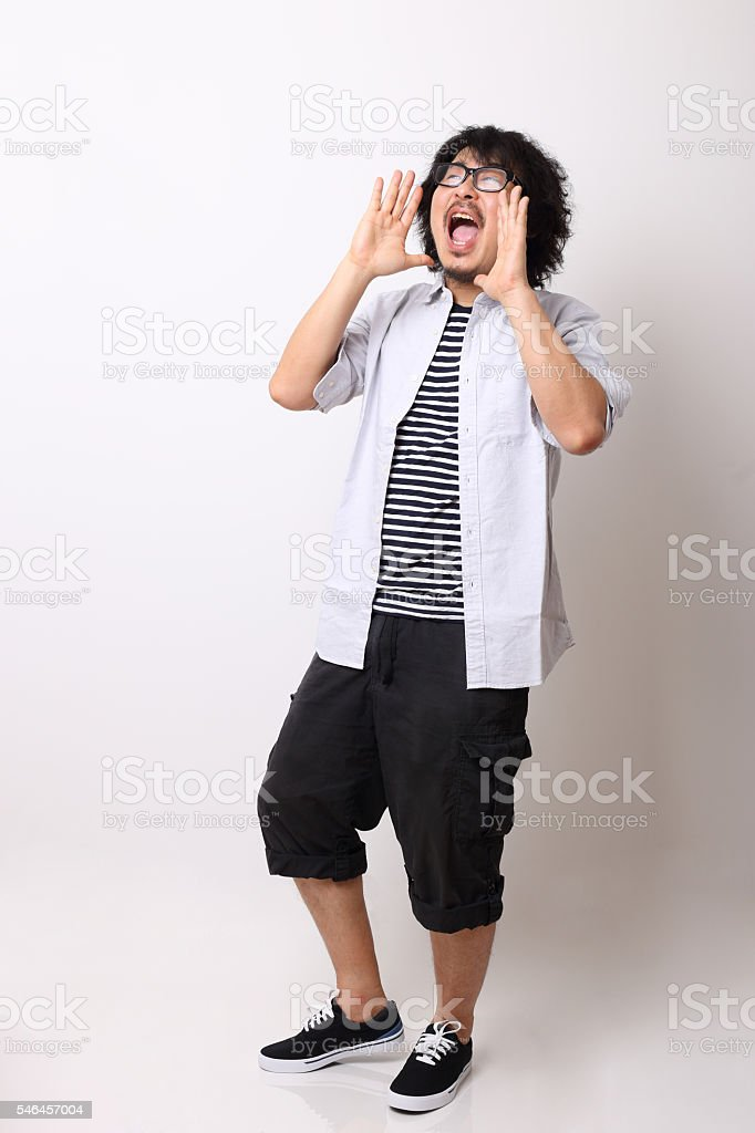 Announcing stock photo