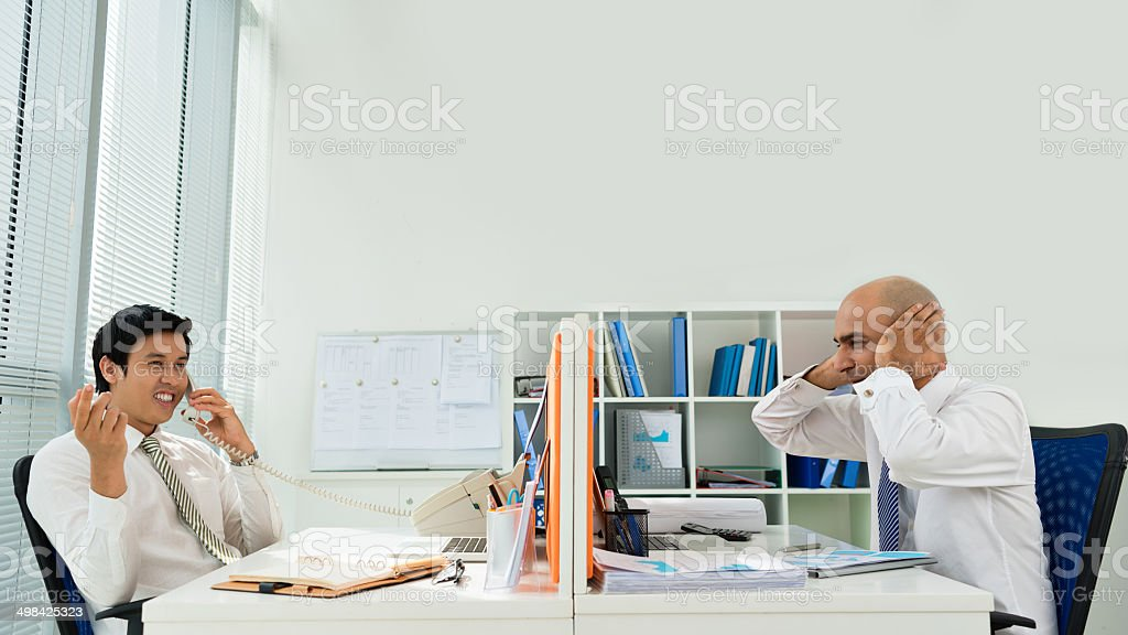 Annoyance stock photo