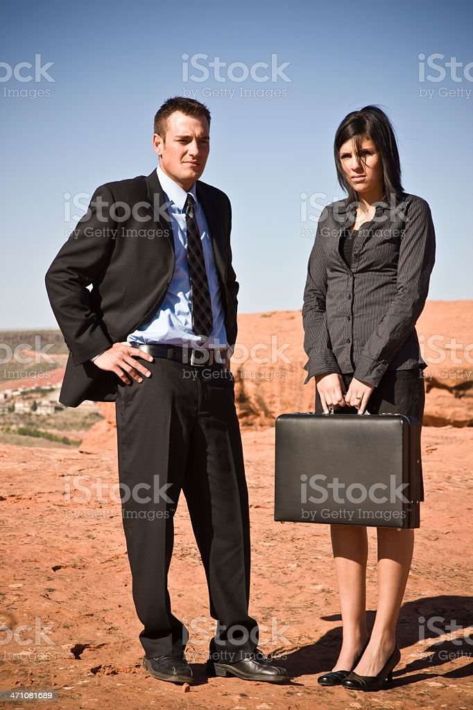 Annoyed Businessteam waiting royalty-free stock photo