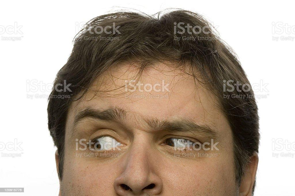 Annoyed look stock photo