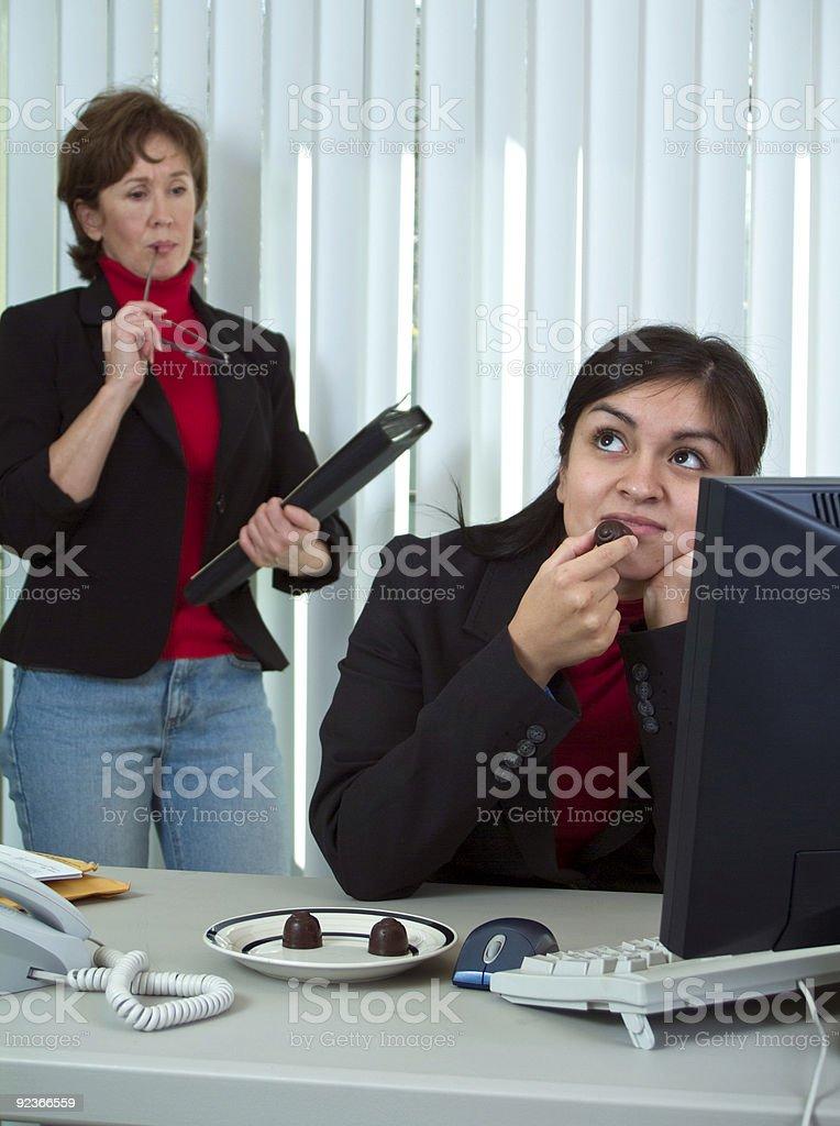 Annoyed Supervisor royalty-free stock photo