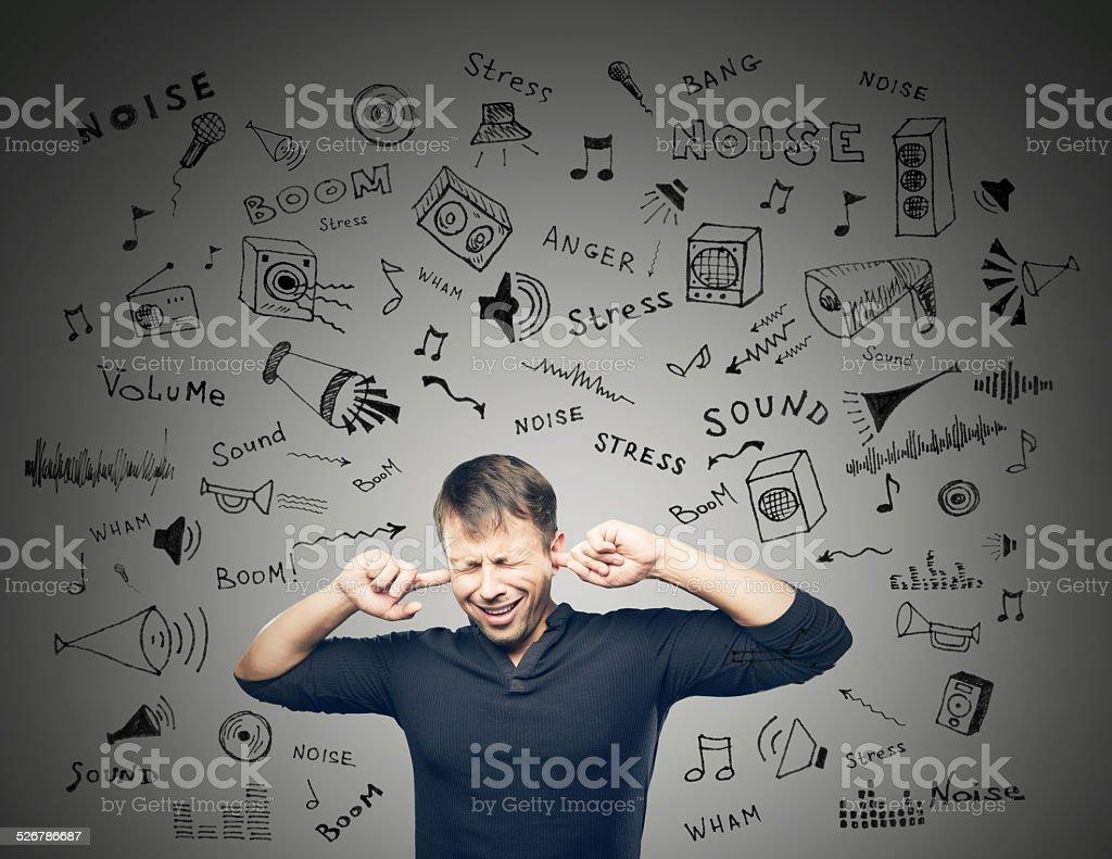 Annoying Noise stock photo