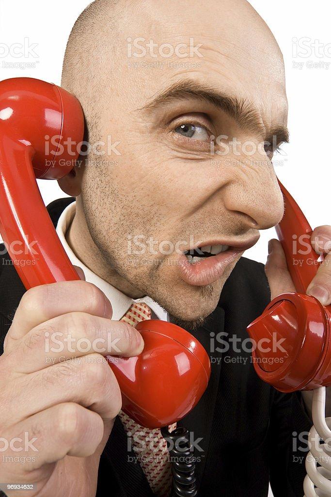 Annoying phone calls royalty-free stock photo