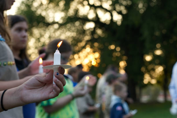 Annual 9/11 Rememberence Vigil in Northwest Philadelphia, PA stock photo