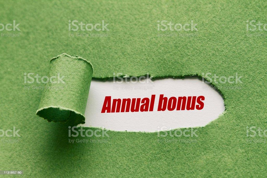 Yıllık bonus stok fotoğrafı