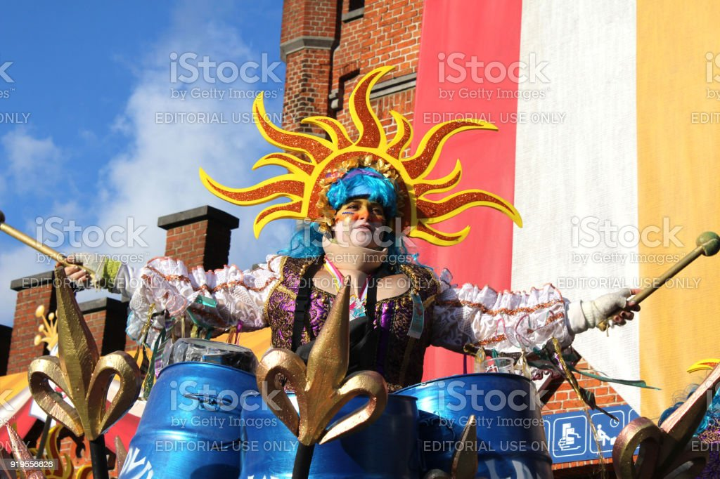 Annual Carnival Monday Parade, Aalst, Belgium stock photo
