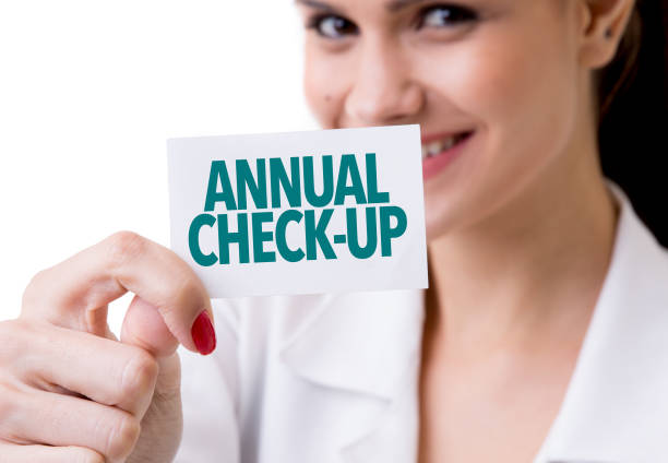 Annual Check-up stock photo