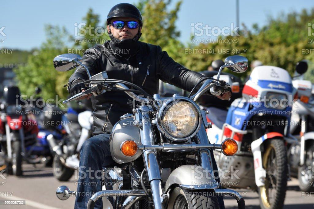 Jährliches Treffen von Bikern aus den baltischen Staaten - Lizenzfrei Auspuff Stock-Foto