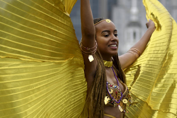 Annual Juneteenth Parade and Festival in Philadelphia, PA stock photo