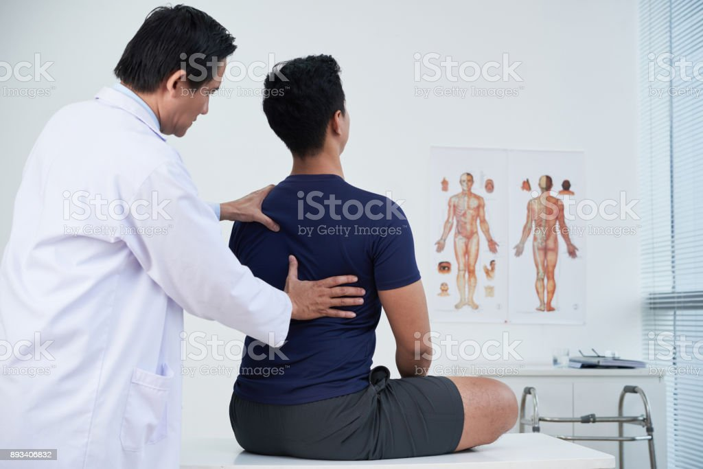 Annual medical examination stock photo