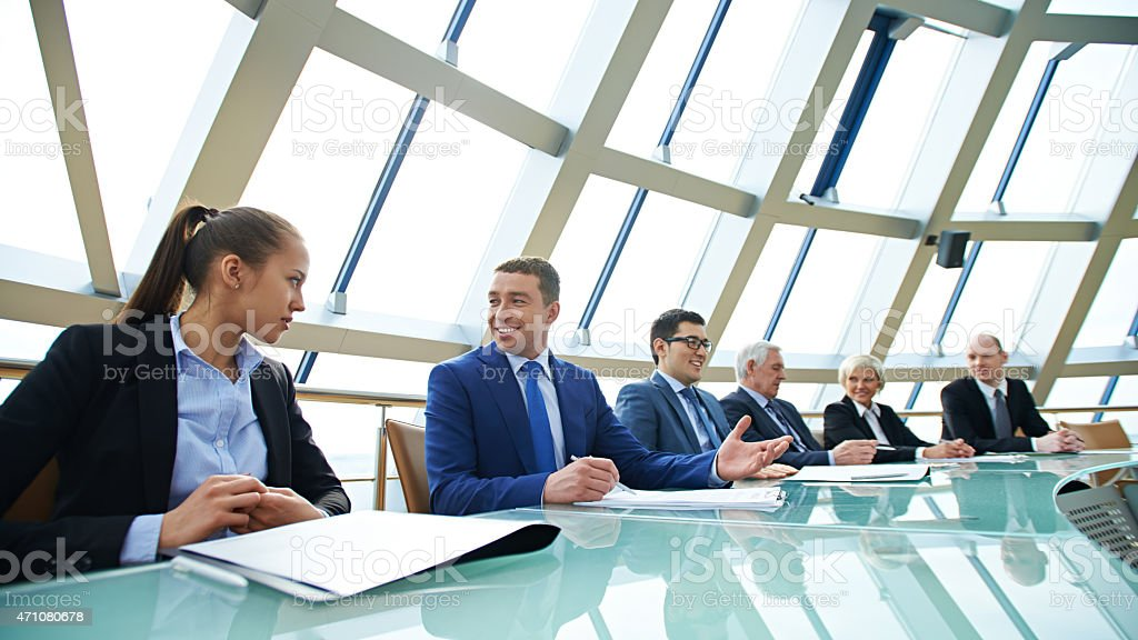 Annual meeting stock photo